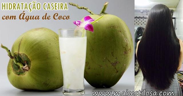 como fazer hidratação caseira com água de coco receita passo a passo