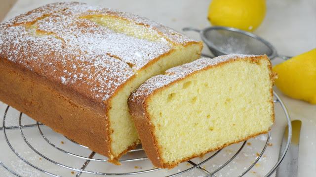 Bizcocho de limón y queso crema