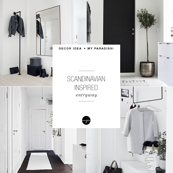 Scandinavian inspired entryway | My Paradissi