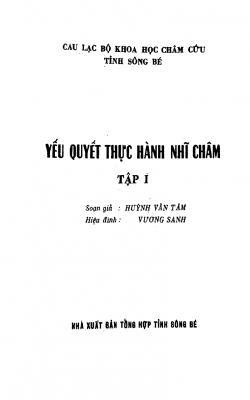 Yếu quyết thực hành nhĩ châm - Huỳnh Văn Tâm