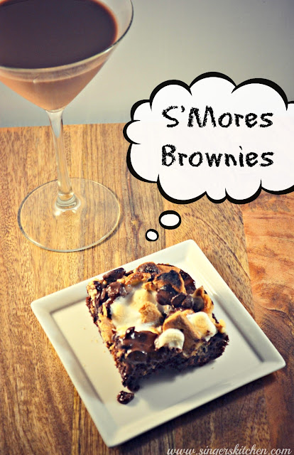 S'mores Brownies {Secret Recipe Club} - Opera Singer in the Kitchen