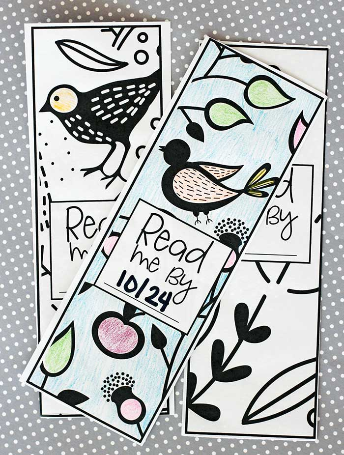 Never forget when your book club is with these book club bookmarks! Free printable bookmarks to color with a spot to write your book club date so you remember to finish your book on time. Genius!