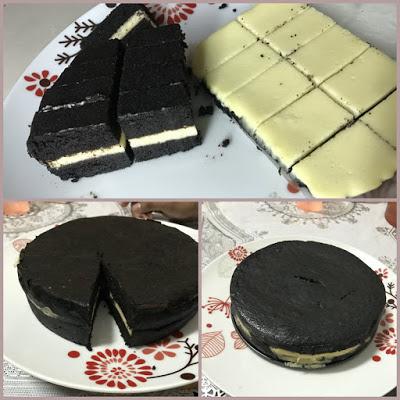 kek coklat cheese mudah