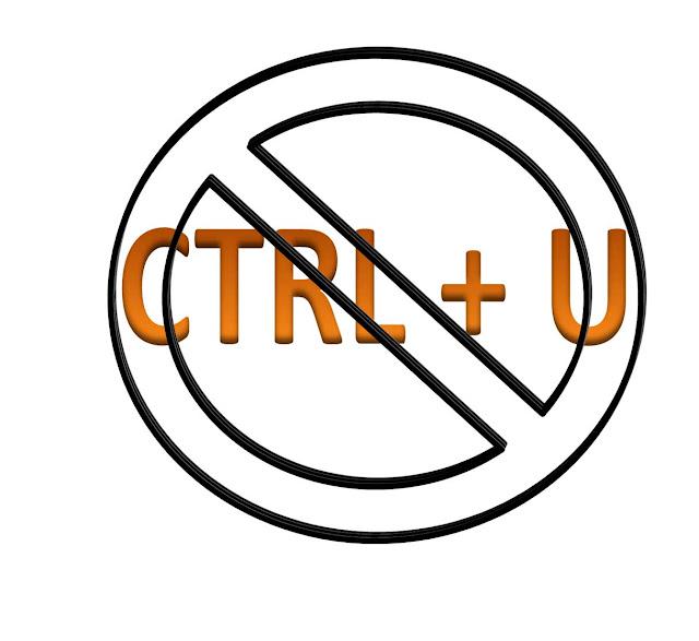 anti CTRL + U