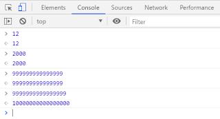 tipe data tanpa desimal pada javascript