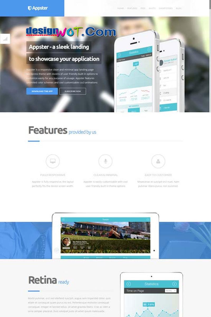 Appster - Clean Minimal App Landing Page WordPress