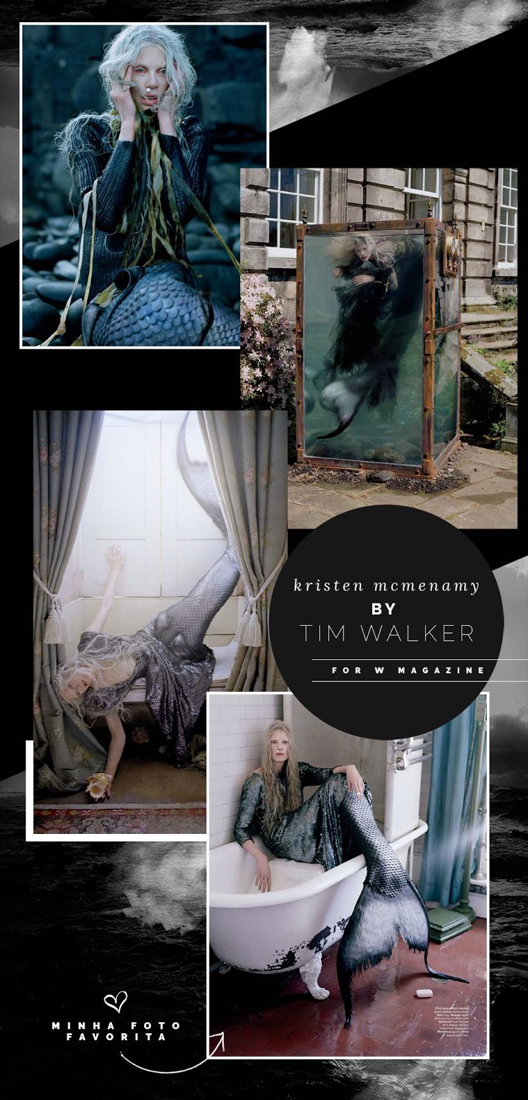Kristen McMenamy by Tim Walker for W Magazine | 187 tons de frio