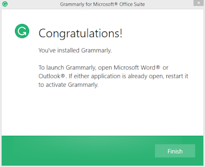 Grammarly for Microsoft Word on pc