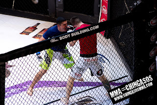Mens MMA action