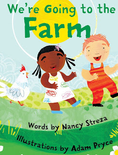 We're Going to the Farm is a fun, animal filled book set to the tune of The Farmer in the Dell. It's prefect for animal loving toddler and preschool age children. My little guy loved the sing-song words and colorful pictures!