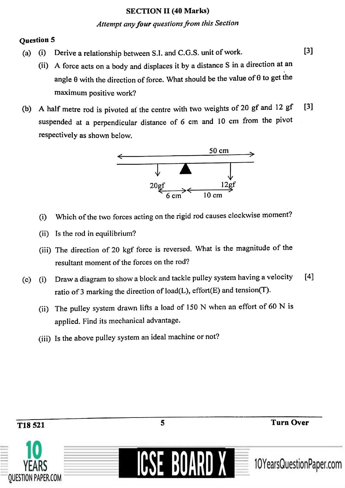 ICSE Board 2018 class 10th Physics question paper Download page-05