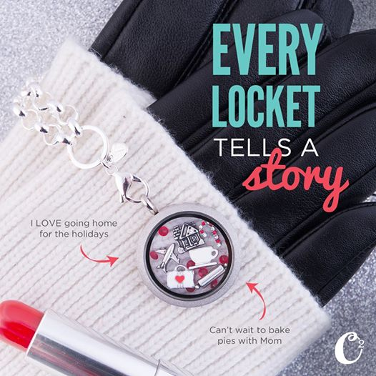 Christmas Holiday Inspired Origami Owl Living Locket | Shop StoriedCharms.com and create your own today!