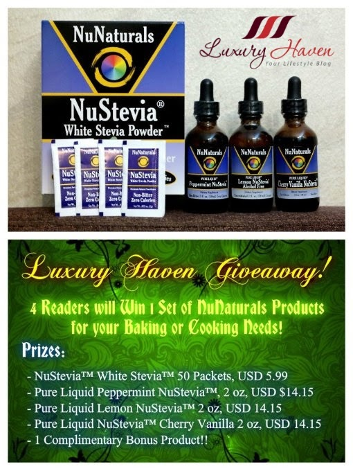 luxury haven nunaturals stevia giveaways