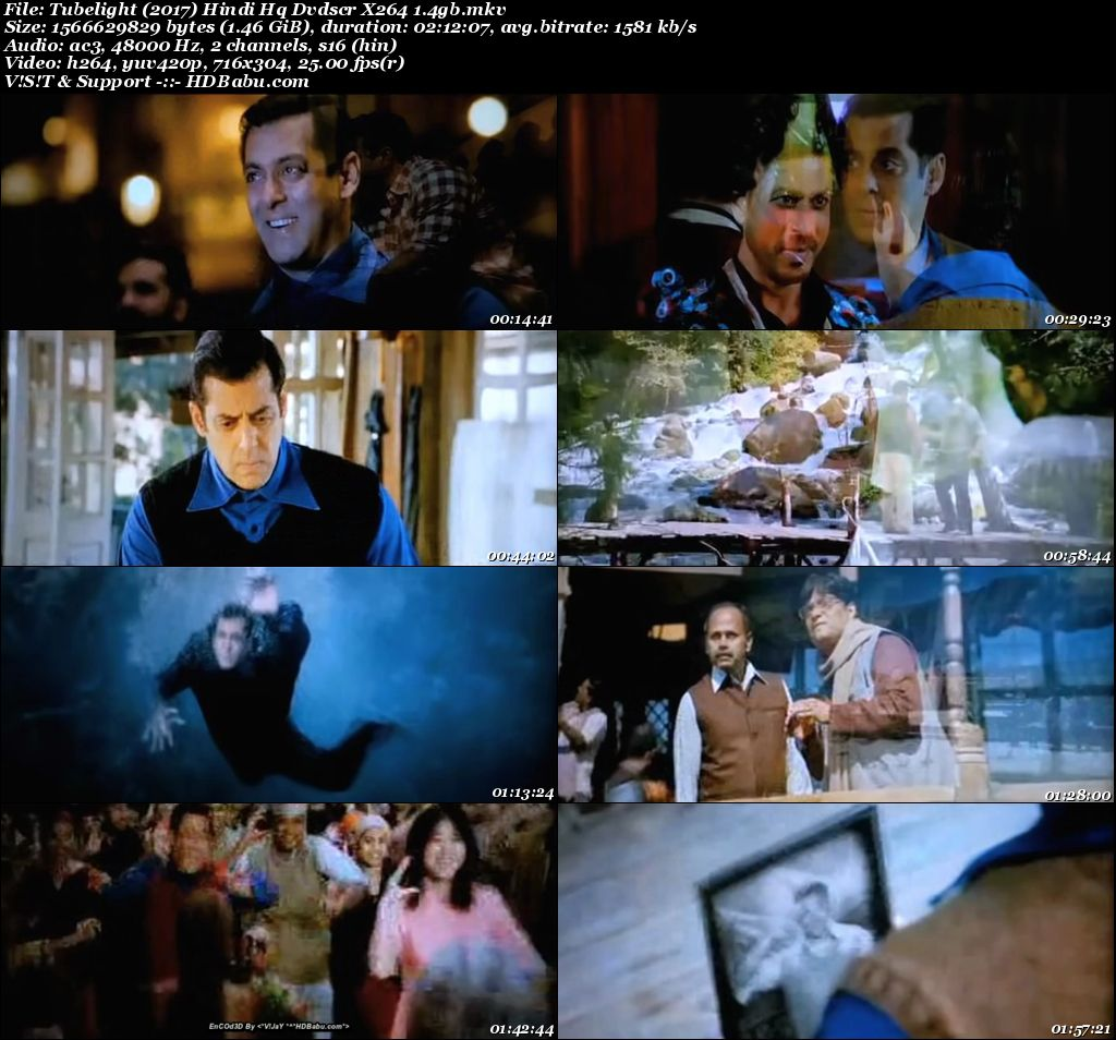Tubelight (2017) Hindi HQ DVDScr x264 1 4GB