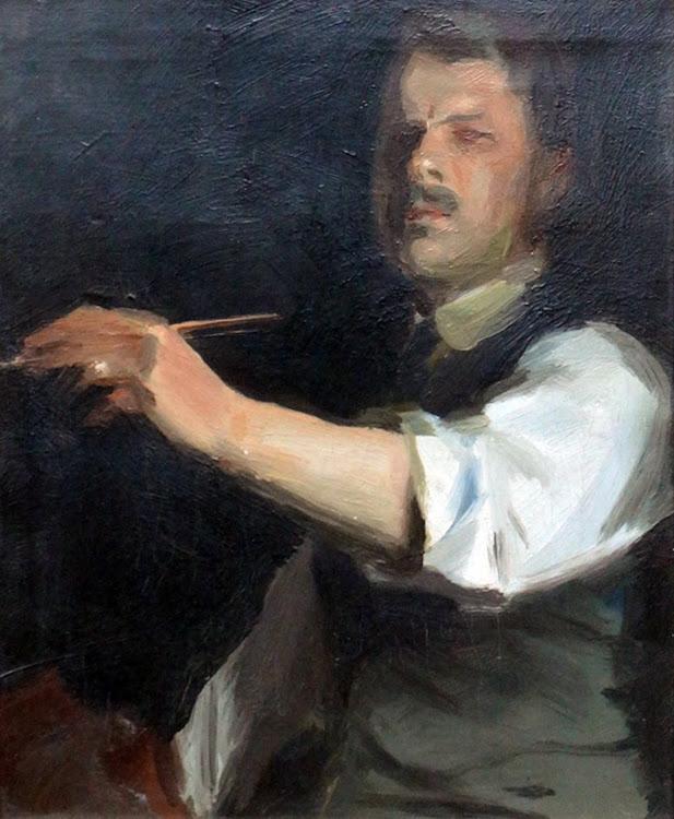 Self portrait, Douglas Stannus Gray, International Art Gallery, Self Portrait, Art Gallery, Douglas Stannus, Portraits of Painters, Fine arts, Self-Portraits, Painter Douglas Stannus