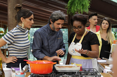 Ticiana, chef Willian e Isabel. Crédito: Victor Silva/SBT