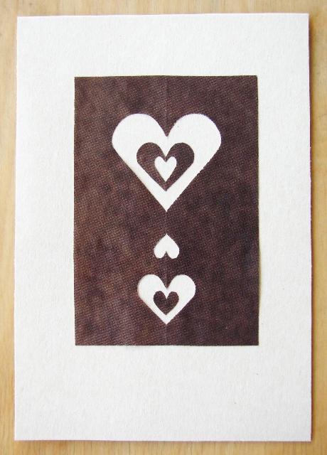 Ruskea sydänkortti