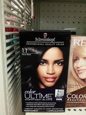 Schwarzkopf Color Ultime Black hair dye on a shelf