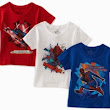 Fruit Of The Loom Boys 2-7 Spiderman Movie Tee