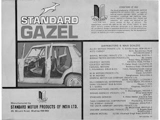 Standard Gazel Indian Distributors+dealers May1976