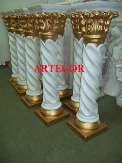 pedestales estatuas y columnas patinadas