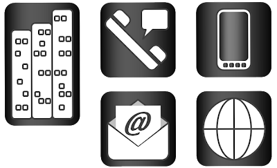 Design Stuffs And Thingses Business Card Icons