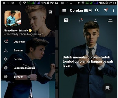 Download BBM Mod Justin Bieber V2.13.1.14