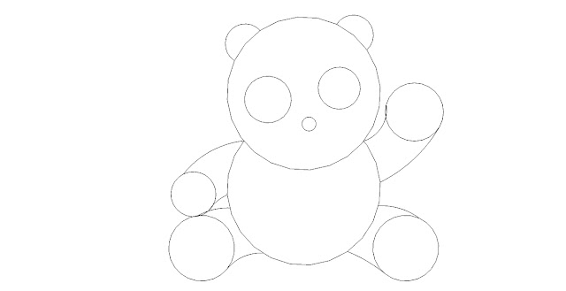 Cara menggambar panda untuk pemula