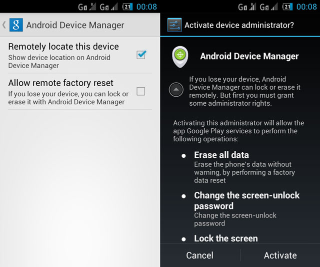 How Google's Android Device Manager Protects Your Phone and