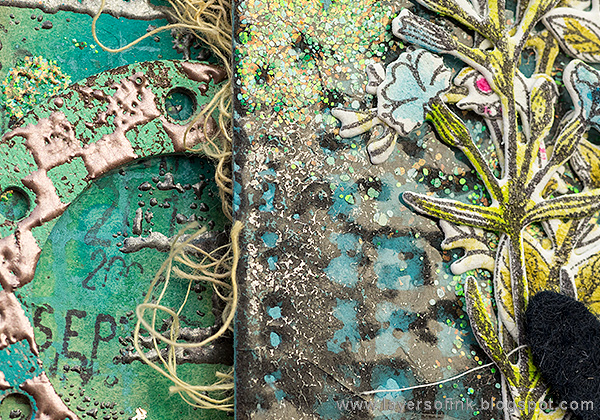 Layers of ink - Grunge It Up Tag Tutorial by Anna-Karin Evaldsson with Sizzix Tim Holtz Industrial