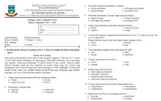Soal UAS Bahasa Indonesia KTSP Kelas 6 Semester 1