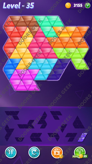 Block! Triangle Puzzle Grandmaster Level 35 Solution, Cheats, Walkthrough for Android, iPhone, iPad and iPod