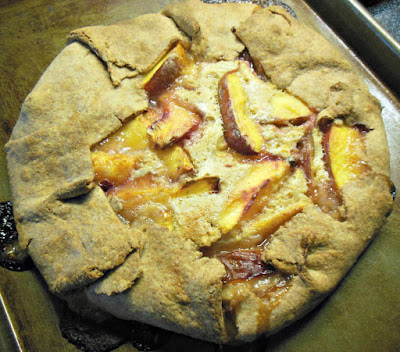 Nectarine Galette in Whole Grain Pastry