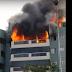 Apartamento pega fogo na 110 Norte