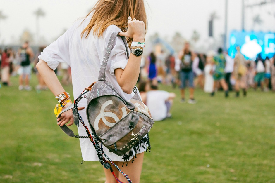 The Blonde Salad with Chanel Graffiti Backpack (SS 14)