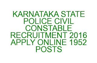 KS POLICE CIVIL CONSTABLE RECRUITMENT 2016 APPLY ONLINE