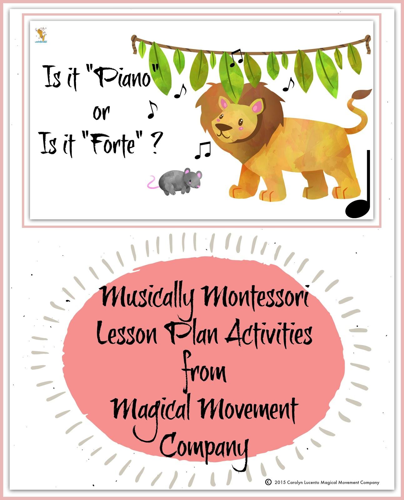 Music Lesson Plan Activities From The Montessori Music Shelf Forte