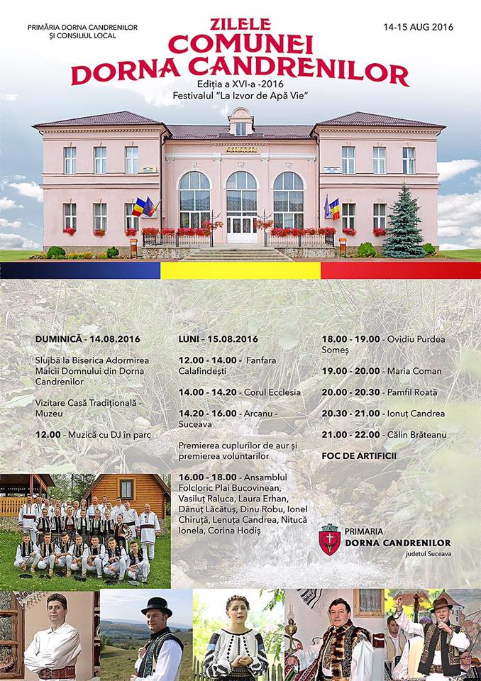 Zilele Comunei Dorna Candrenilor ~ 14-15 August 2016