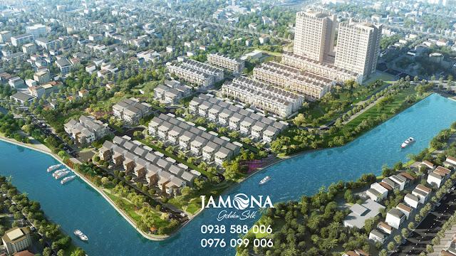 Bán lại lô biệt thự Jamona Golden Silk quận 7 giá tốt - vị trí ven sông.