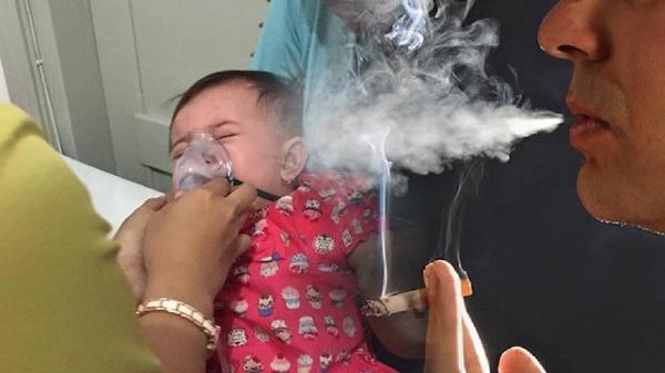 Bagaimana Anak Mau Sehat, Dari Bayi Saja Sudah Mencium Asap Rokok Orangtuanya