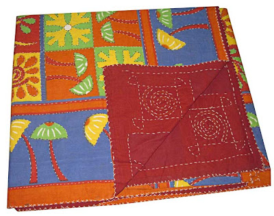 Block Print Vegetable Dyes Coverlets