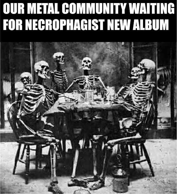 Our Metal Community Waiting For Necrophagist New Album, Necrophagist Meme, Necrophagist New Album, Necrophagist Funny, Necrophagist