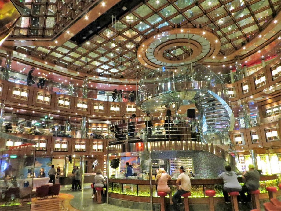 Carnival Dream cruise ship, Dream Lobby &  Atrium - Monday, February 17, 2020