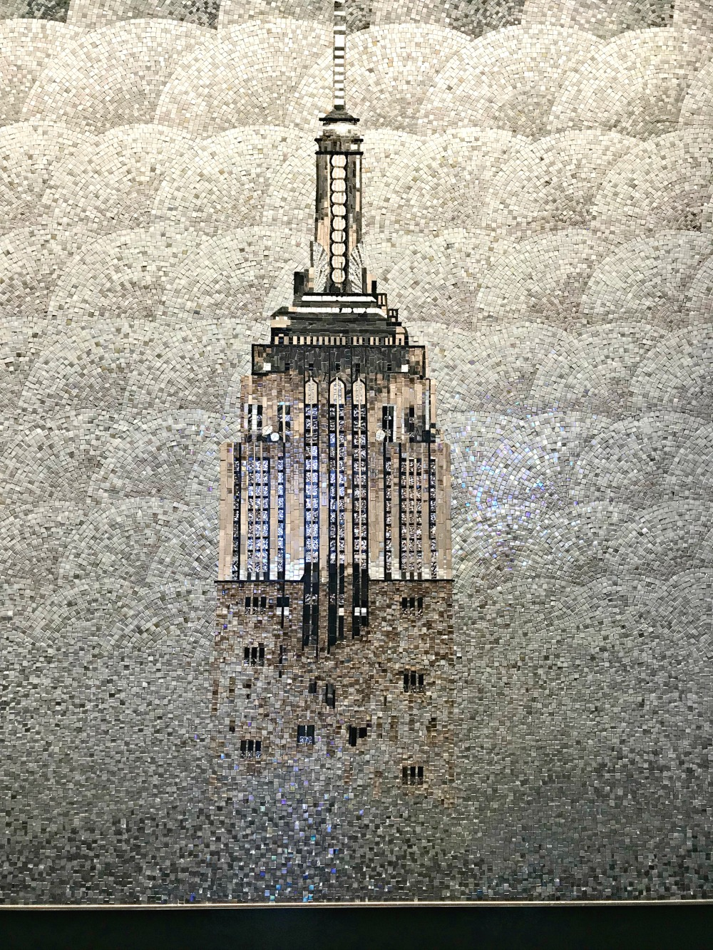 The Empire State Building in tiles