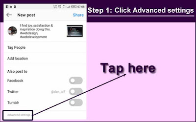 Tap Advanced settings