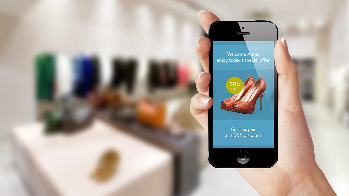 Indoor locational system, for the moment, the function iBeacon especially for brands and stores to use new marketing channels to interact with the customer via their smartphone.