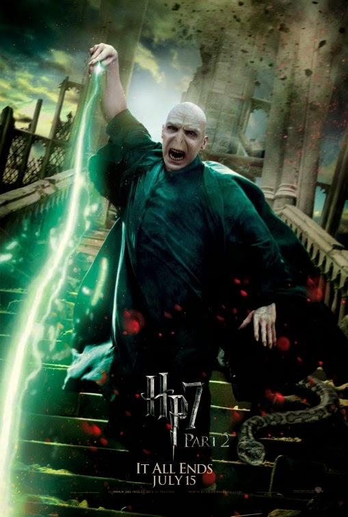 Voldemort Harry Potter Deathly Hallows 2 movie poster