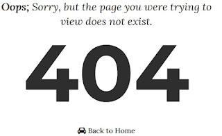 Cara Mudah Mengatasi Error Page Not Found 404