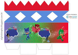 Cajas de Super héroes en Pijamas para imprimir gratis.