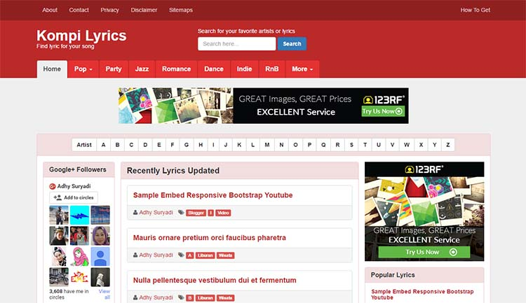 Free Blogger Template - Kompi Lyrics